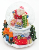 Водяной шар Санта с подарками