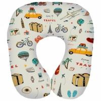 Фото Подушка для путешествий дорожная с принтом Путешествия