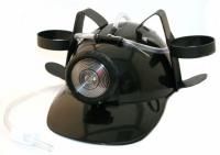 Шлем для пива МЧСника с фонарем Черный
