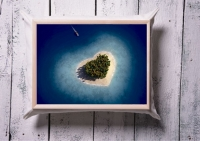 Фото Поднос на подушке Сердце Мальдив