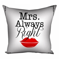Подушка Mrs. Always Right 40х40см