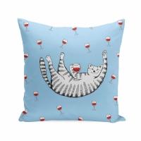 Подушка Кот в выходной день