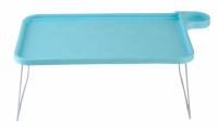 Столик-поднос универсальный прикроватный с подставкою для чашки голубой