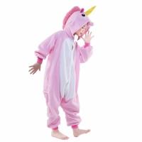 Детская пижама кигуруми Единорог (розовый) 120 см