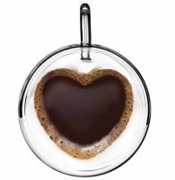 Чашка для чая и кофе с двойным дном в форме Сердце 280мл