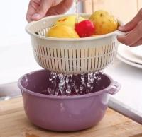 Миска-дуршлаг для мытья овощей и фруктов