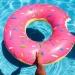 Надувной круг Пончик Pink 120см