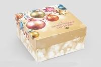 Фото Подарочная коробка З новорічними святами 20*20*10