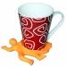Подставка оранжевая для горячей чашки