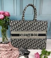 Сумка шоппер женская в стиле Christian Dior ( темно-серая )