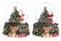 Декоративный водяной шар с Led подсветкой Санта 9 см