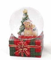 Декоративный водяной шар Мишка и ёлка 6,3 см