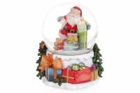 Декоративный музыкальный водяной шар Санта 14,5 см