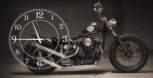 Часы на холсте Мотоцикл 25х50