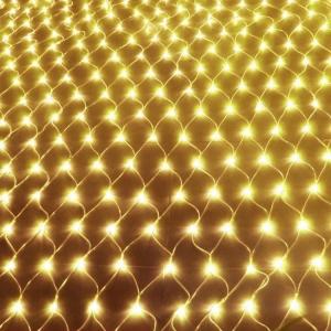 Гирлянда светодиодная сетка 160 LED, белый шнур 1,5х1,5 м (Золото)