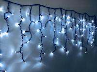 Уличная гирлянда светодиодная на 200 LED, черный провод 20м