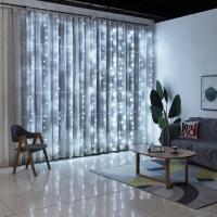 Гирлянда светодиодная Водопад 280 LED, прозрачный шнур 3х2 м (Белый)
