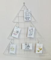 Настенный органайзер Мудборд (moodboard) доска визуализации и планирования, в форме елки (белый)