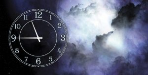 Часы на холсте Космос 25х50