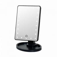 Настольное зеркало с LED подсветкой Large LED Mirror(черный)