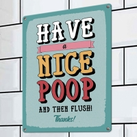Табличка интерьерная металлическая Have a nice poop