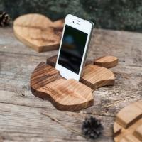 Фото4 Подставка для телефона из дерева Яблоко