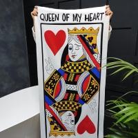 Полотенце Королева моего сердца 150х70 см