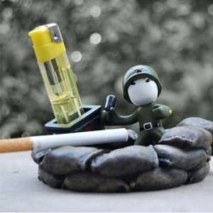 Пепельница с подставкой под зажигалку