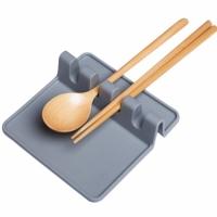 Кухонная силиконовая подставка для ложек Grey