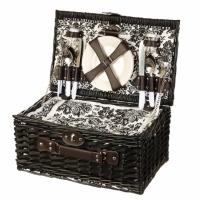 Набор для пикника на 4 персоны в корзине