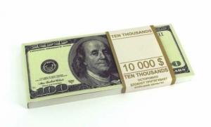 Денежный блокнот 100 долларов