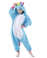 Фото Детское кигуруми Единорог (голубой) 140 см