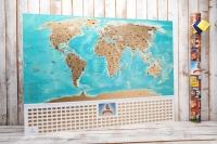 Фото Скретч карта мира flags edition на русском языке