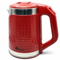 Электрочайник с металлической колбой объем 2.2 л (красный)