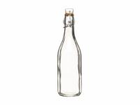 HM Бутылка стеклянная с керамической пробкой и зажимом 500 мл (26 см)