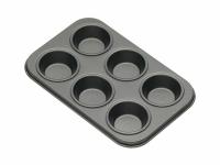 KC NS Формы для выпечки мини кексов 6 отверстий с антипригарным покрытием 15 см х 10 см 2 единицы