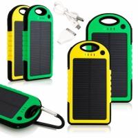 Мобильная зарядка Power Bank на солнечной батарее 5000Mah