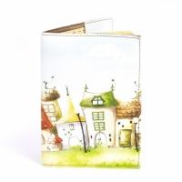 Обложка на паспорт домики