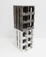 Подставка для вина ящик на 6 бутылок модульный вертикальный