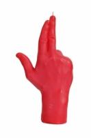 Свеча красная в виде руки GUN