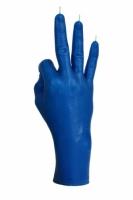 Свеча синяя в виде руки ОК