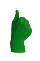 Свеча зеленая в виде руки Like