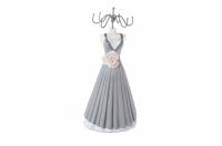 Вешалка для украшений платье с розой 34 см