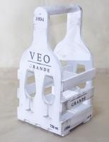 Винная подставка бокал на 4 бутылки