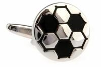 Запонки Футбольный мяч white