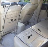 Набор защиты для автомобильного кресла и сиденья (Черный)