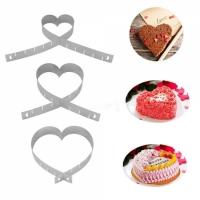 Форма Сердце раздвижная для тортов и десертов от 14 до 26 см