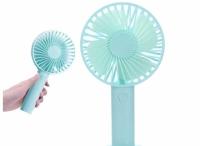 Вентилятор с ручкой handy mini fan (голубой)