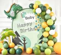 Фото Набор воздушных шаров для фотозоны на день рождения Динозаврик