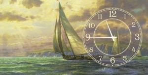 Часы на холсте Лондон 25х25